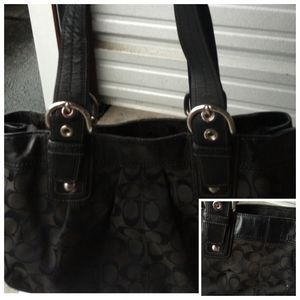 A black coach bag
